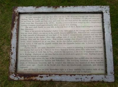 Escanaba's Docks Marker image. Click for full size.