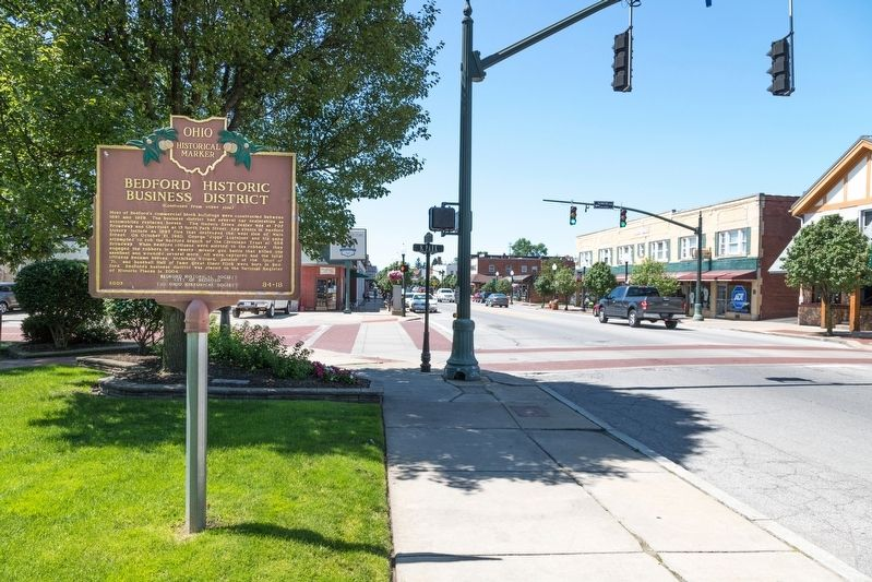 Bedford Historic Business District and Marker image. Click for full size.