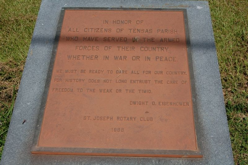 Tensas Parish Veternas Marker image. Click for full size.