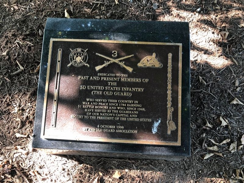 3d United States Infantry Marker image. Click for full size.