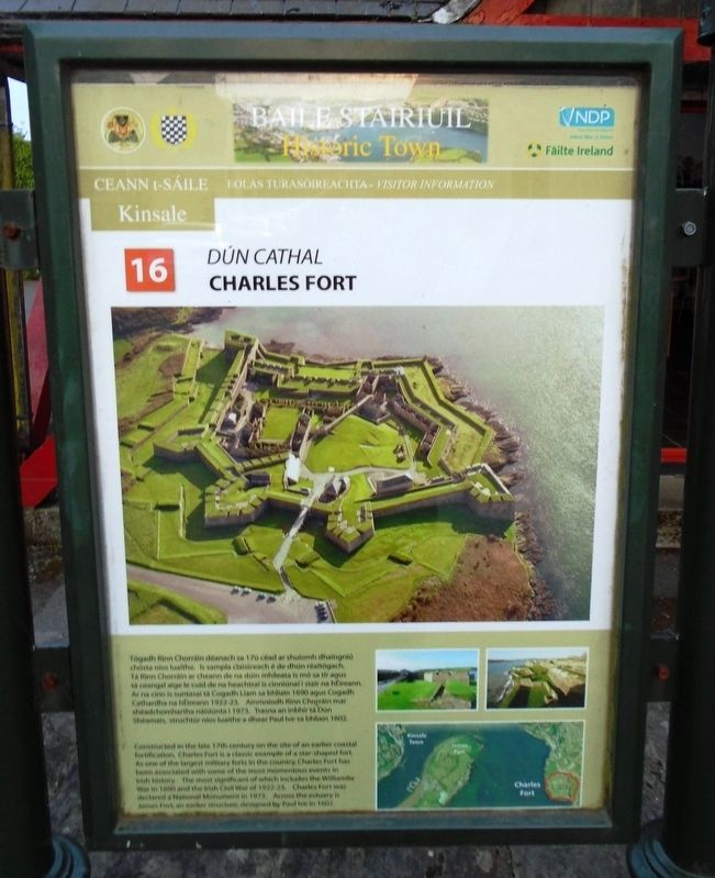 Dún Cathal / Charles Fort Marker image. Click for full size.