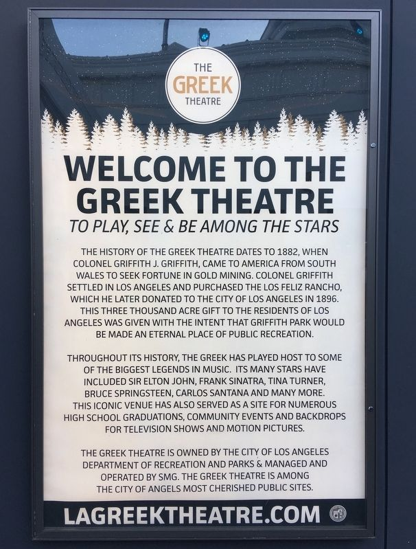 The Greek Theatre Marker image. Click for full size.
