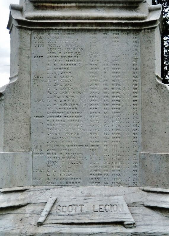 Mexican-American War Monument<br>(<i>north name panel</i>) image. Click for full size.