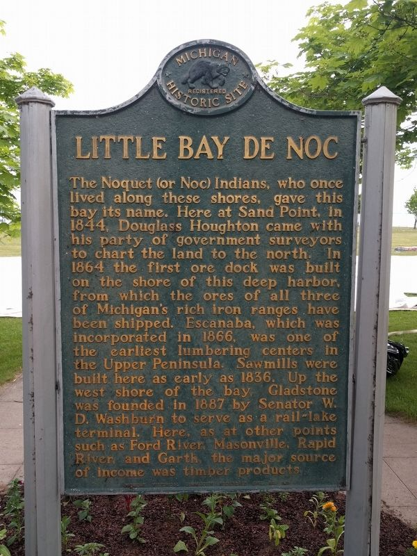 Little Bay de Noc Marker image. Click for full size.