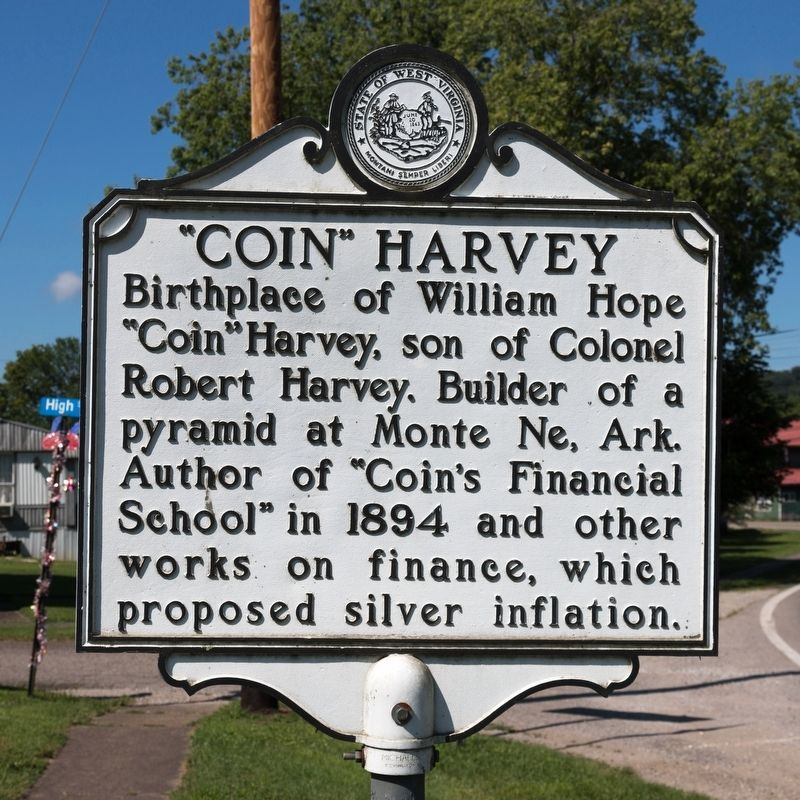 "The ""Coin"" Harvey side of the marker image, Touch for more information"