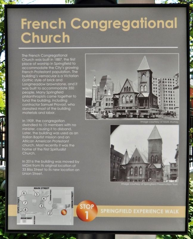 French Congregational Church Marker image. Click for full size.