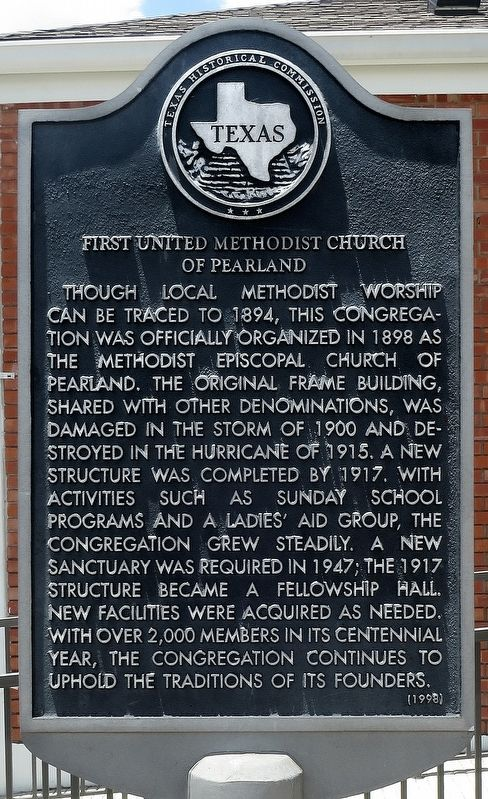 First United Methodist Church of Pearland Marker image. Click for full size.