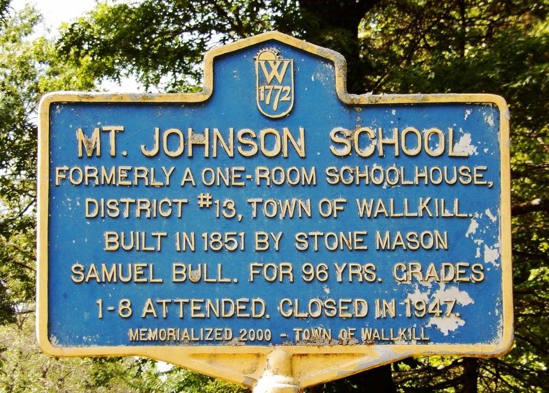 Mt. Johnson School Marker image. Click for full size.