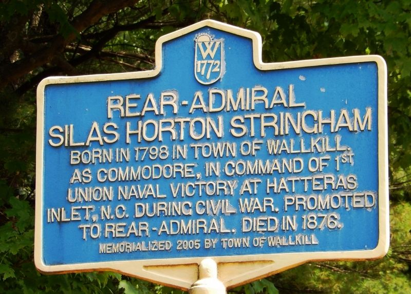 Rear-Admiral Silas Horton Stringham Marker image. Click for full size.
