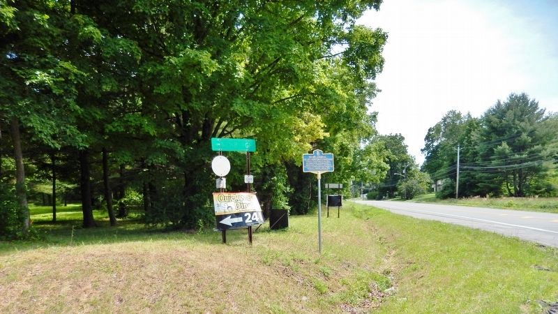 Silas Horton Stringham Marker<br>(<i>view south from New York Hwy 17K • Walnut Trail on right</i>) image. Click for full size.