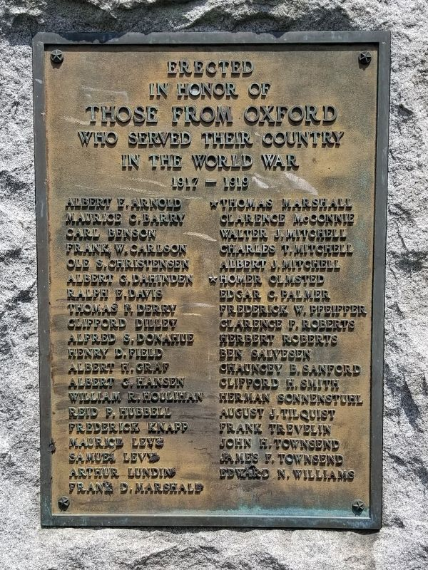 Oxford World War I Monument image. Click for full size.