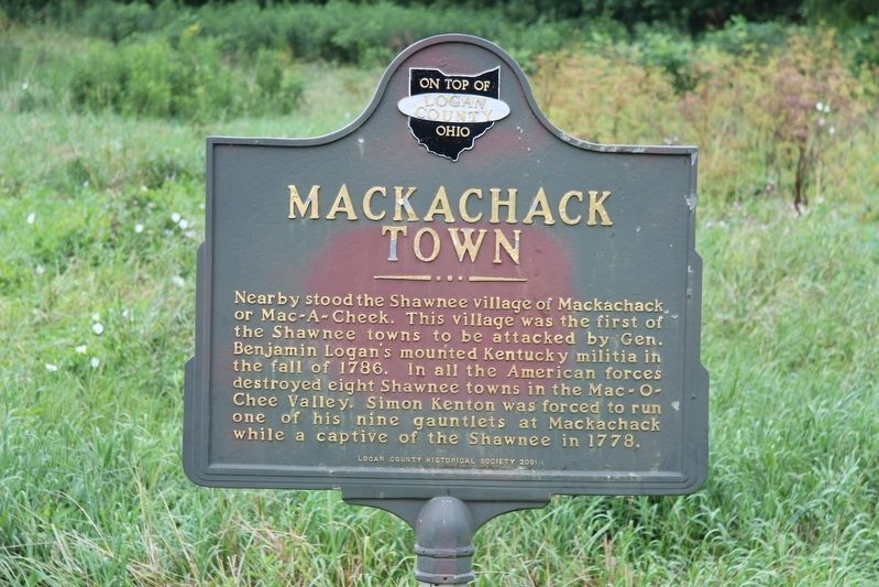 Mac-O-Chee Towns Marker image. Click for full size.