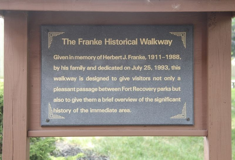 The Franke Historical Walkway Marker image. Click for full size.