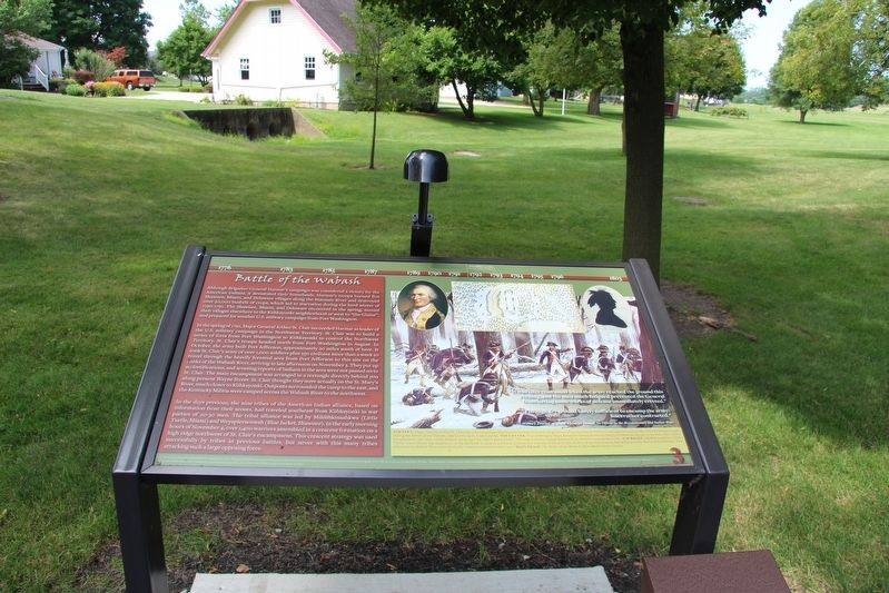Battle of the Wabash Marker image. Click for full size.