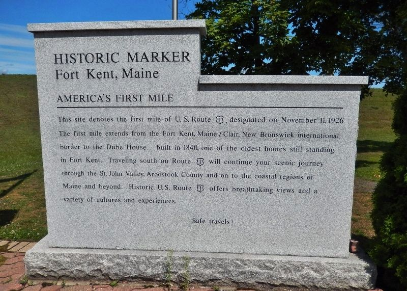 America's First Mile Marker (<i>right-side panel</i>) image. Click for full size.