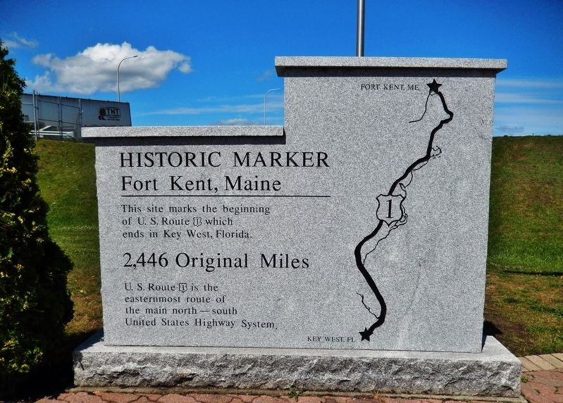 America's First Mile Marker (<i>left-side panel</i>) image. Click for full size.
