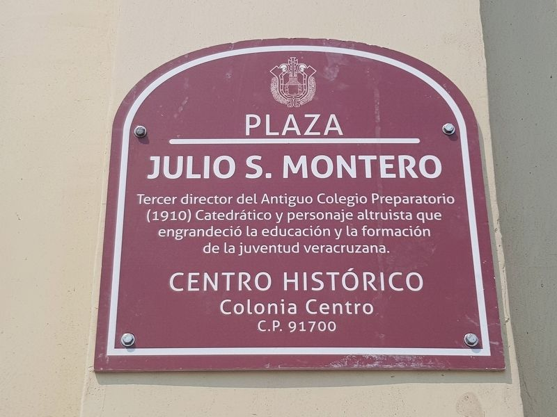 Julio S. Montero Plaza Marker image. Click for full size.