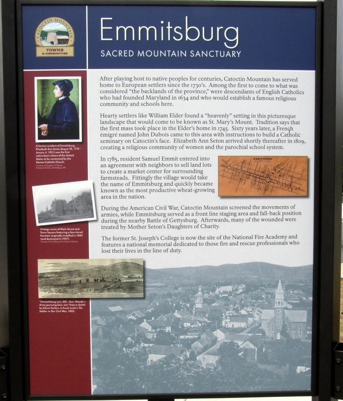 Emmitsburg - Sacred Mountain Sanctuary Marker image. Click for full size.