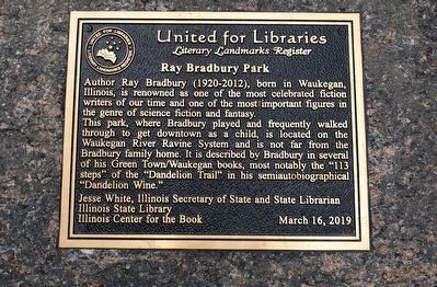Ray Bradbury Park Marker image. Click for full size.