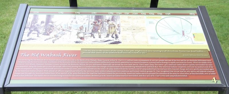 The Old Wabash River Marker image. Click for full size.