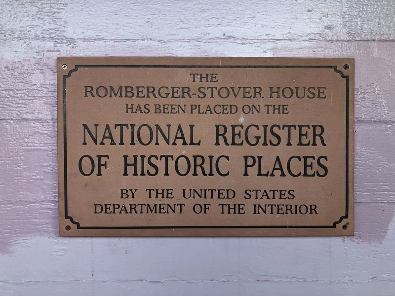 The Romberger-Stover House Marker image. Click for full size.