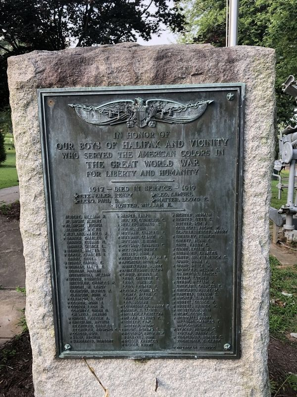 Halifax and Vicinity World War I Memorial image. Click for full size.