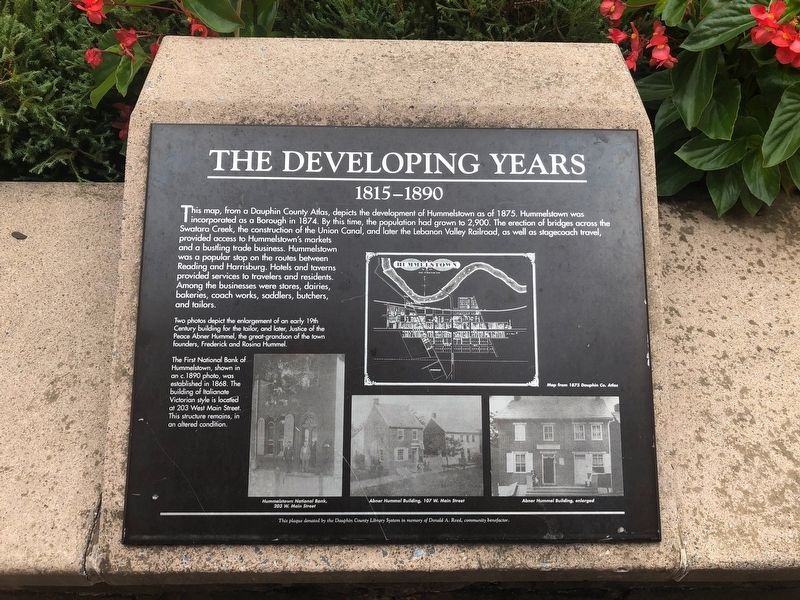 The Developing Years Marker image. Click for full size.