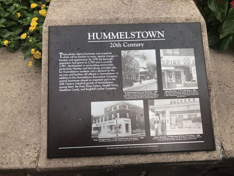 Hummelstown Marker image. Click for full size.