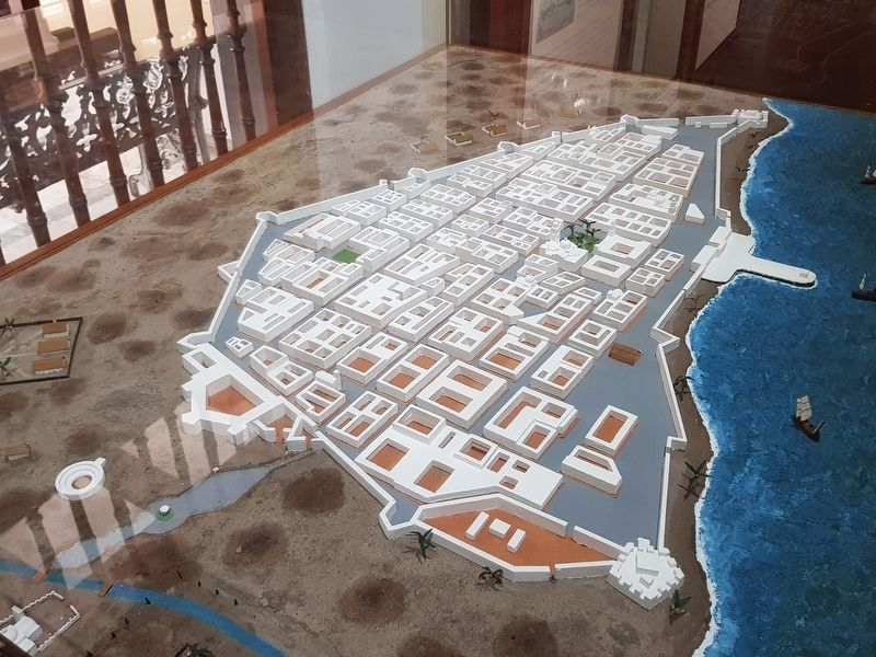 A model of the walled city of Veracruz image. Click for full size.