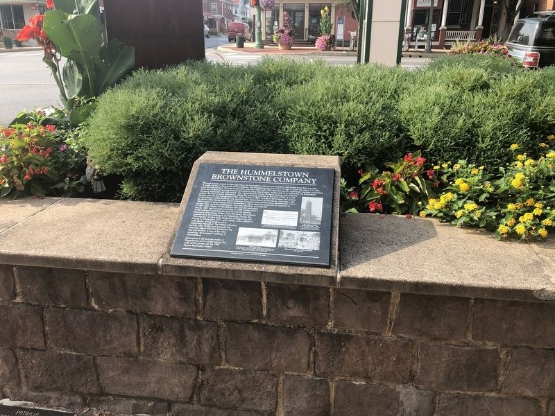 The Hummelstown Brownstone Company Marker image. Click for full size.