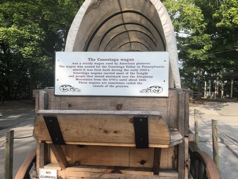 The Conestoga wagon Marker image. Click for full size.