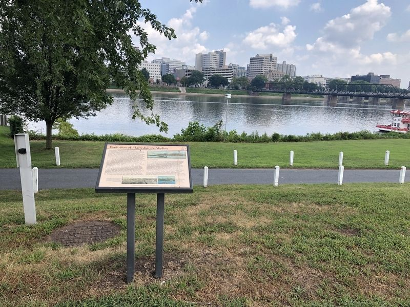 Evolution of Harrisburg's Skyline Marker image. Click for full size.