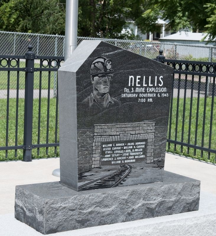 Nellis No. 3 Mine Explosion Monument image. Click for full size.