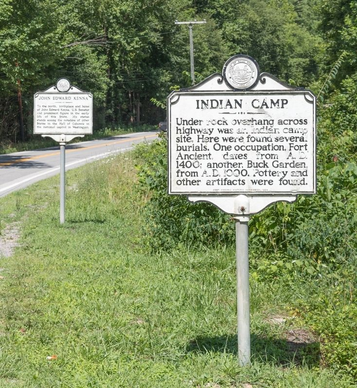 John Edward Kenna and Indian Camp Markers image. Click for full size.