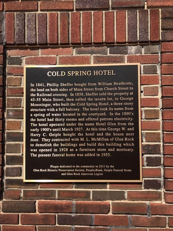 Cold Spring Hotel Marker image, Touch for more information