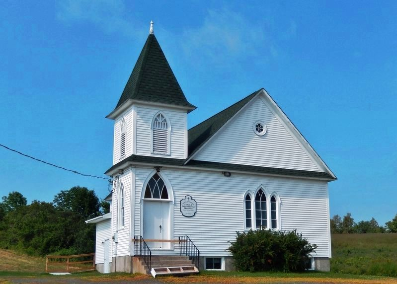 Scottish Settlement Church<br>(<i>located about 3 kilometers north of marker</i>) image. Click for full size.