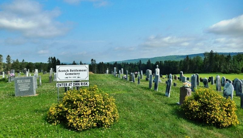 Scottish Settlement Cemetery<br>(<i>located about 3 kilometers north of marker</i>) image. Click for full size.