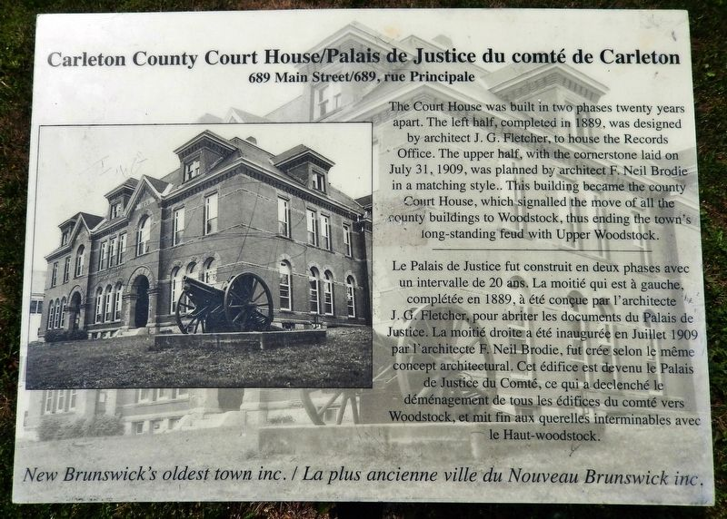 Carleton County Court House Marker image. Click for full size.