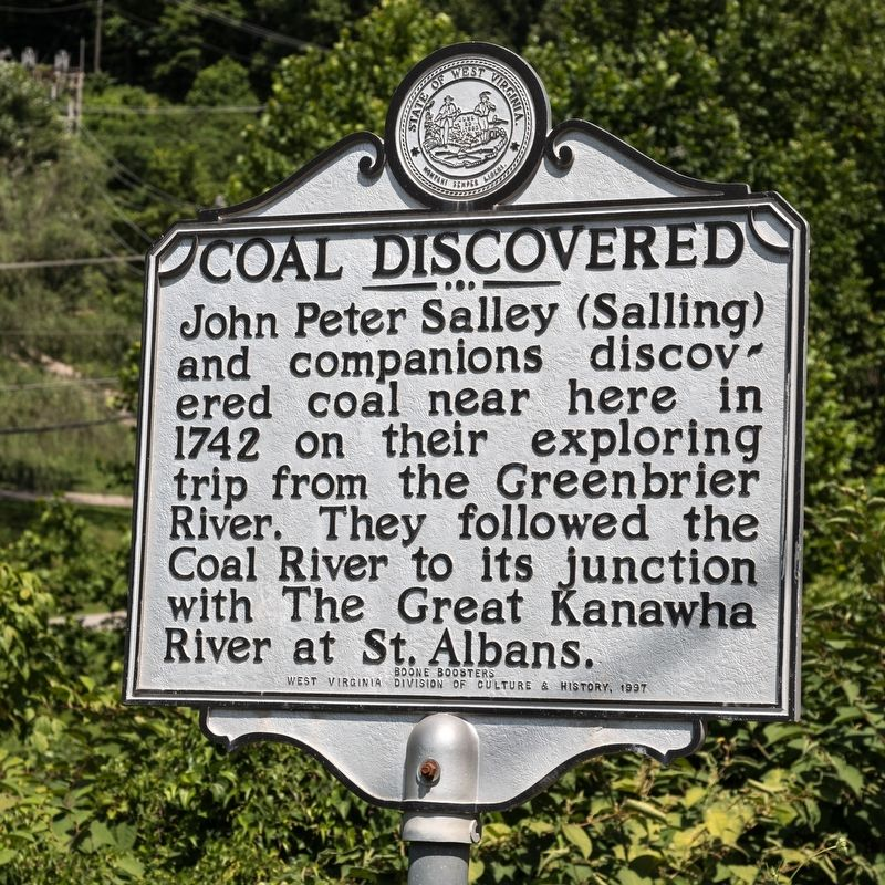 Coal Discovered Marker image. Click for full size.