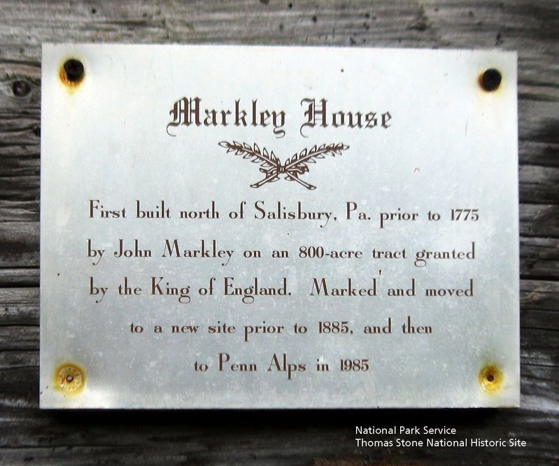 Markley House Marker image. Click for full size.