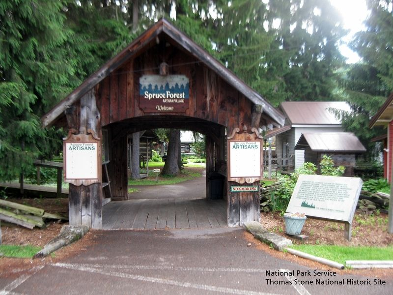 Spruce Forest Artisan Village at Cassleman River Bridge State Park. image. Click for full size.