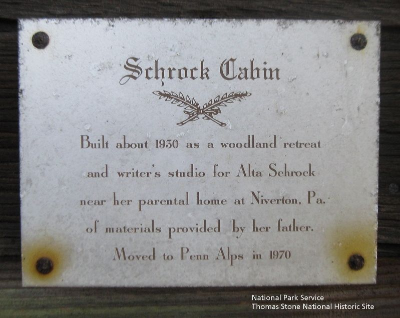 Schrock Cabin Marker image. Click for full size.