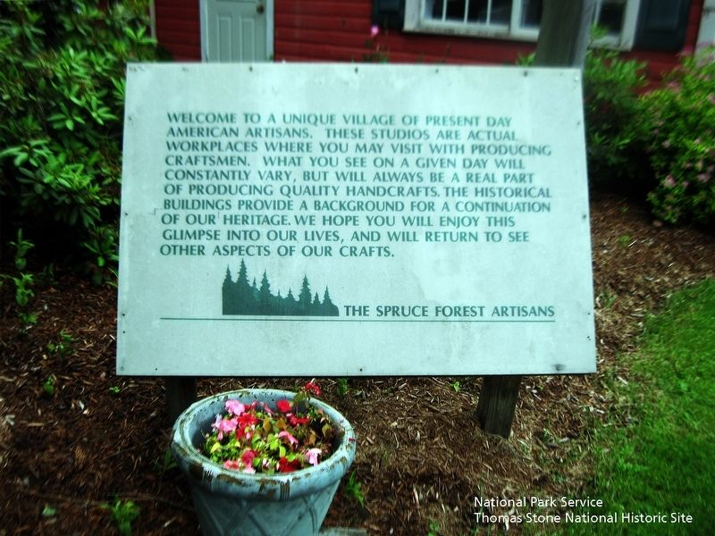 Spruce Forest Artisan Village Welcome Sign image. Click for full size.