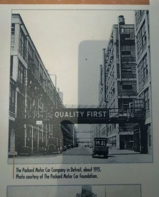 """Quality First"": The Packard Motor Car Company Marker - upper right image image. Click for full size."