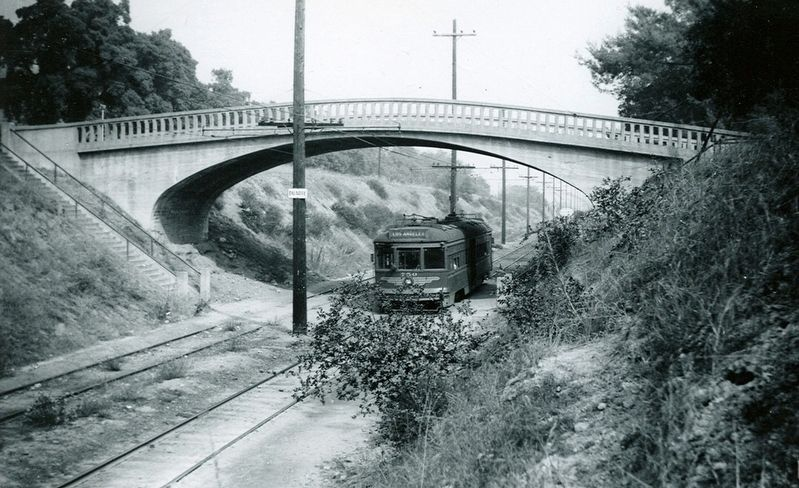 Bridge and Pacific Electric Railway image. Click for full size.