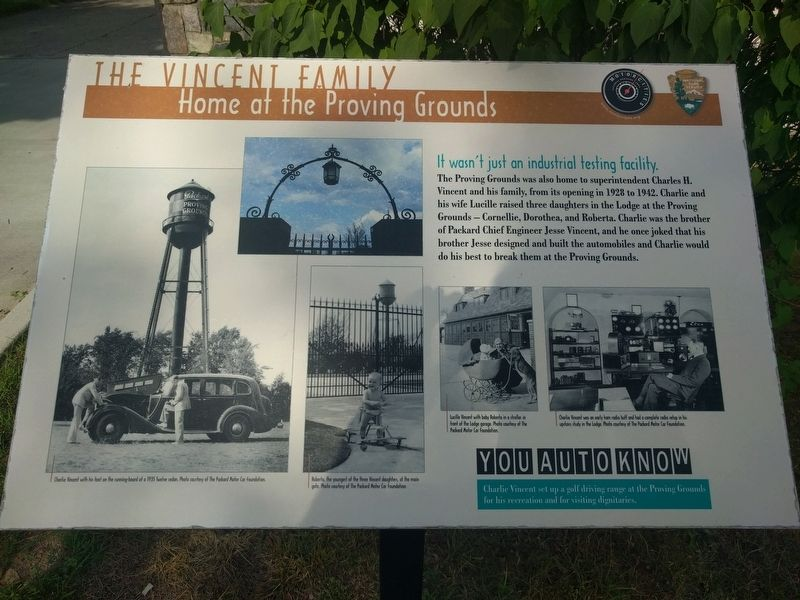 The Vincent Family: Home at the Proving Grounds Marker image. Click for full size.