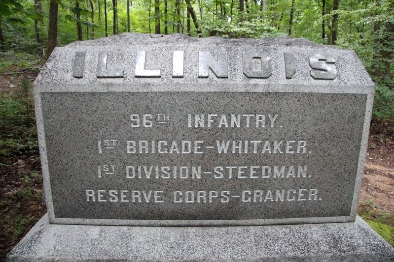 96th Illinois Infantry Marker image. Click for full size.