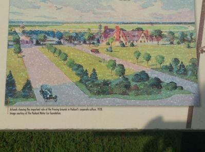 Packard Proving Grounds: Preserving Automotive History Marker - left image image. Click for full size.