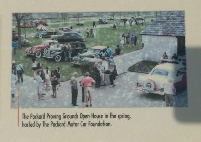 Packard Proving Grounds: Preserving Automotive History Marker - lower right image image. Click for full size.