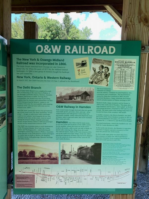 O & W Railroad Marker image. Click for full size.